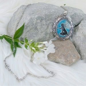 Reckless Resale Jewelry - Blue Fairy Pendant Silver Necklace